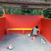 Bus stop Painting Beautification Boiche